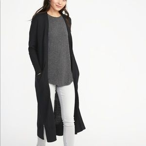 Old Navy Super Long Open Front Duster Cardigan